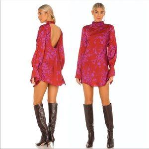 Free People Aries Mini Dress in Red Sz XS